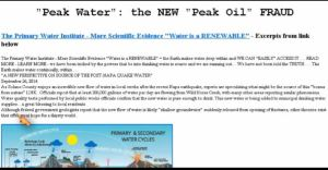peak water and  oil fraud